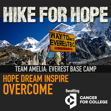 I'm going to Mt Everest Base Camp! #HikeforHope