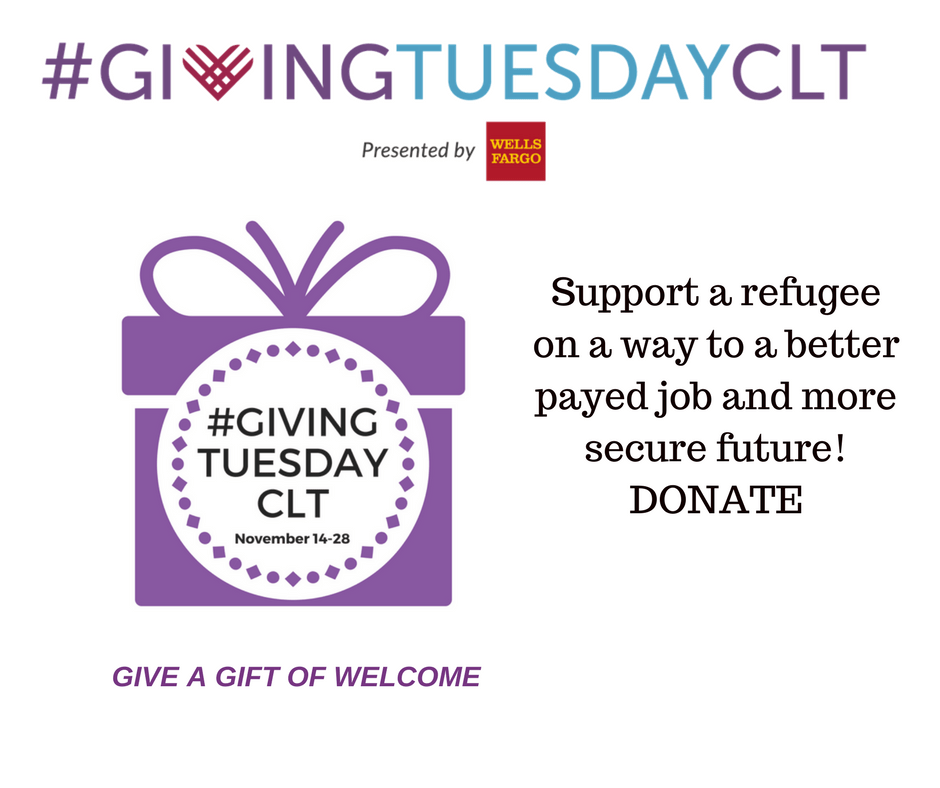 Help Support Our Refugee Neighbors #GivingTuesdayCLT