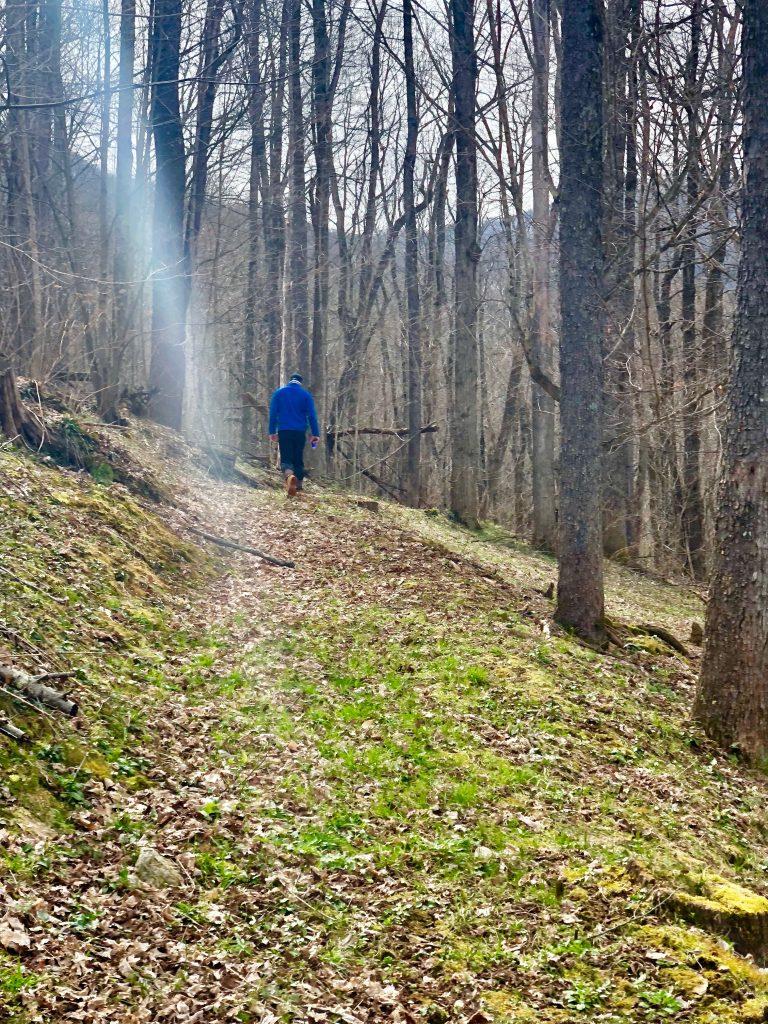 Hiking at our Carolina Mornings Cabin.