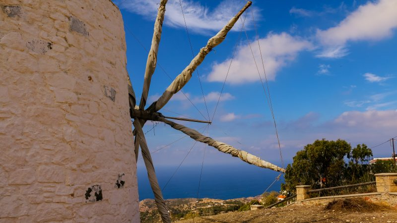 Windmill in Karpathos, Island