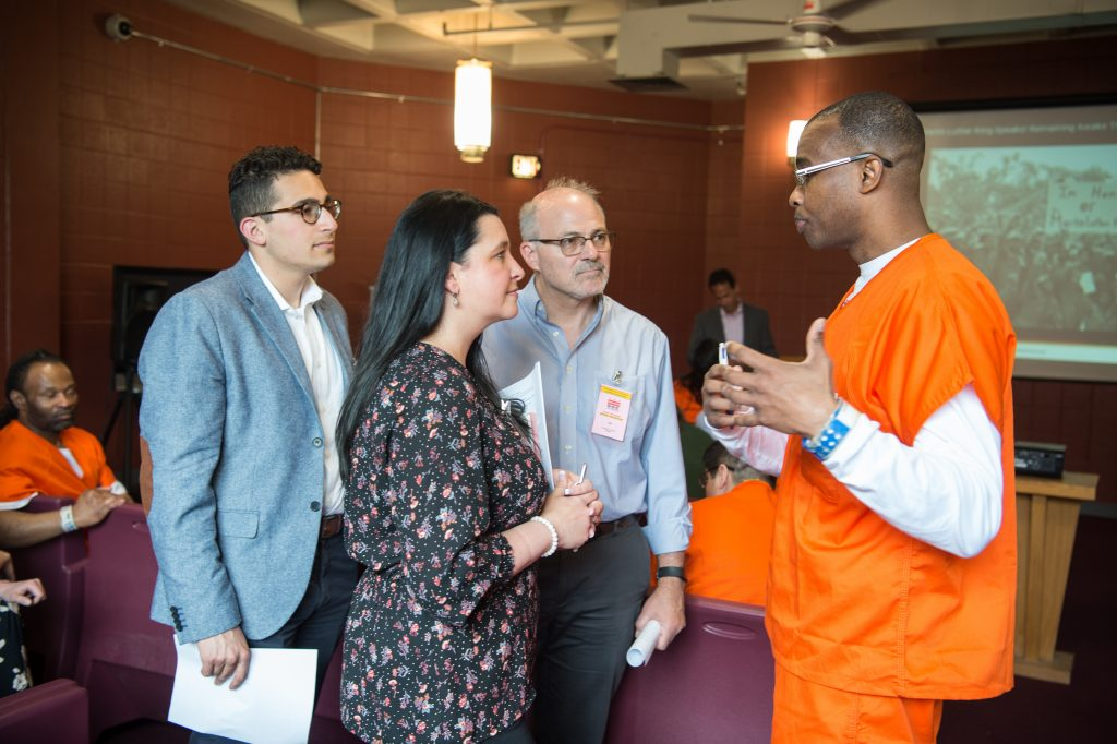 Georgetown University hosts a Georgetown Scholars speech at the DC Central Treatment Facility, on Thursday, April 25, 2019, in Washington, DC. (Photos by Leslie E. Kossoff/Georgetown University)